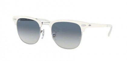Ray Ban 0RB3716 90883F CLUBMASTER METAL Silver On White - Clear Gradient Blue