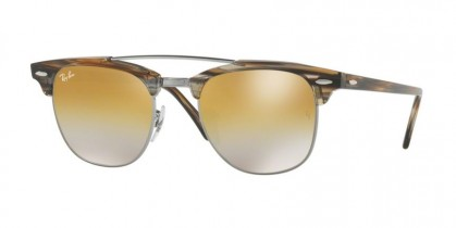 Ray Ban 0RB3816 1238/I3 Gunmetal - Brown Mirror Silver Gradient Gold