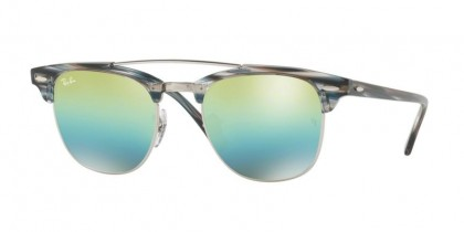 Ray Ban 0RB3816 1239/I2 Silver - Green Mirror Blue Gradient Green