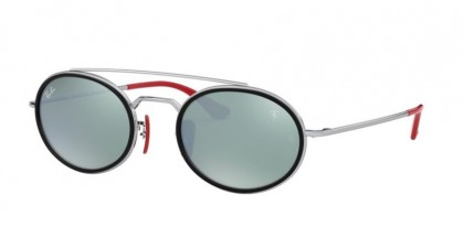 Ray-Ban 0RB3847M F03130 Silver - Light Green Mirror Silver