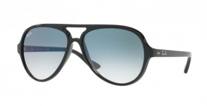 Ray Ban 0RB4125 CATS 1000 601/3F Black - Clear Gradient Blue
