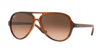 Ray Ban 0RB4125 CATS 1000 820/A5 Striped Havana - Pink Gradient Brown