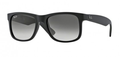 Ray-Ban 0RB4165 JUSTIN 601/8G Rubber Black - Grey Gradient