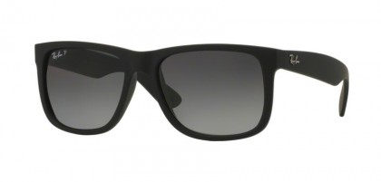 Ray-Ban 0RB4165 JUSTIN 622/T3 Black Rubber - Grey Gradient Polarized
