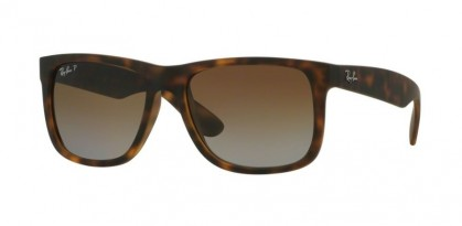 Ray-Ban 0RB4165 JUSTIN 865/T5 Havana Rubber - Brown Gradient Polarized