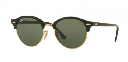 Ray-Ban 0RB4246 CLUBROUND 901 Black - Green