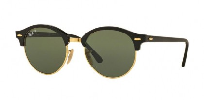 Ray Ban 0RB4246 CLUBROUND 901/58 Black - Green Polarized