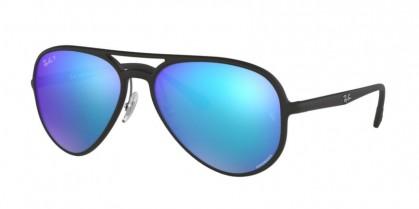 Ray Ban 0RB4320CH 601SA1  Matte Black - Green Mirror Blue Polar