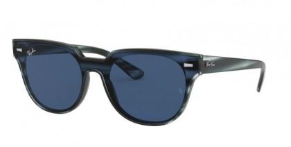 Ray Ban 0RB4368N 643280 BLAZE METEOR Striped Blue Havana - Dark Blue