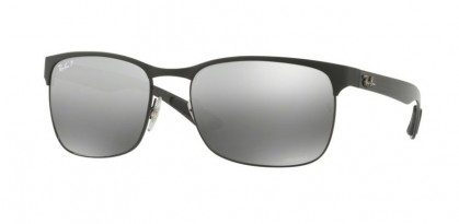 Ray-Ban 0RB8319CH 186/5J Black Top on Matte Black - Grey Mirror Grey Gradient Polarized