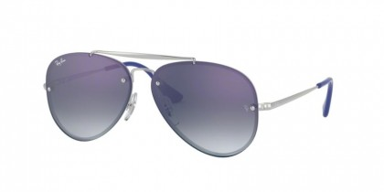 Ray Ban Junior 0RJ9548SN 212/X0  Silver - Blue Mirror Red