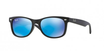 Ray Ban Junior 0RJ9052S 100S/55 Matte Black - Blue Mirror