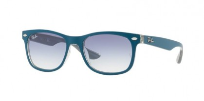 Ray Ban Junior 0RJ9052S RJ9052S 703419 Top Matte Turquoise - Clear Gradient Light Blue