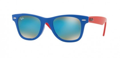 Ray Ban Junior 0RJ9066S 7039/B7 Blue - Brown Gradient Mirror Blue