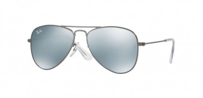 Ray Ban Junior 0RJ9506S 250/30 Matte Gunmetal - Grey Flash