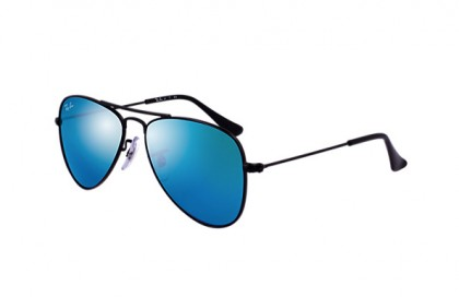 Rayban Junior 0RJ9506S 201/55 Matte Black - Blue Mirror