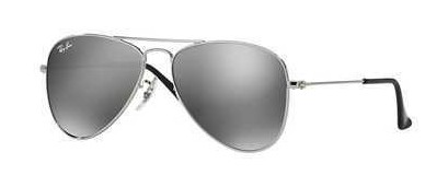 Ray-Ban Junior 0RJ9506S JUNIOR AVIATOR 212/6G Shiny Silver - Grey Silver Mirror