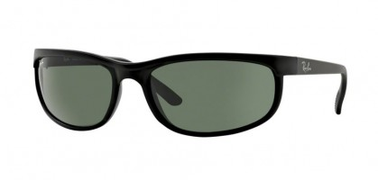 Ray-Ban 0RB2027 PREDATOR 2 W1847 Black Matte Black - Crystal Green
