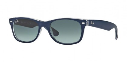 Ray-Ban 0RB2132 NEW WAYFARER 605371 Top Matte Blue on Trasparent - Grey Gradient