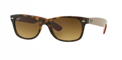 Ray-Ban 0RB2132 NEW WAYFARER 618185 Matte Havana - Brown Gradient Dark Brown