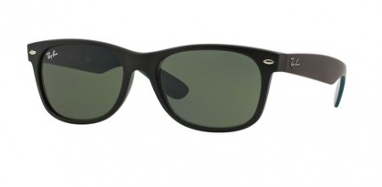 Ray-Ban 0RB2132 NEW WAYFARER 6182 Matte Black - Green