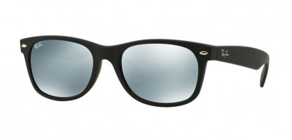 Ray-Ban 0RB2132 NEW WAYFARER 622/30 Rubber Black - Grey Mirror Silver