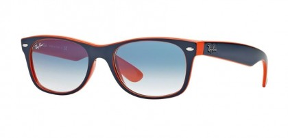 Ray-Ban 0RB2132 NEW WAYFARER 789/3F Top Blue Orange - Crystal Gradient Light Blue