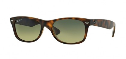 Rayban ICONS 0RB2132 NEW WAYFARER 894/76 Matte Havana - Blue Green Mirror Polarized