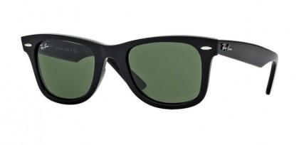 Rayban ICONS 0RB2140 WAYFARER 901 Black Crystal Green