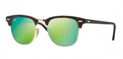 Rayban ICONS 0RB3016 CLUBMASTER 114519 Sand Havana Gold - Grey Mirror Green
