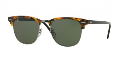Rayban ICONS 0RB3016 CLUBMASTER 1157 Spotted Black Havana - Green