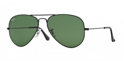 Ray-Ban 0RB3025 AVIATOR LARGE METAL L2823 Black - Grey Green