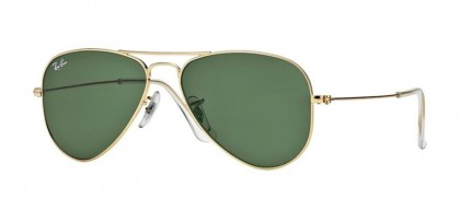 Rayban ICONS 0RB3044 AVIATOR SMALL METAL L0207 Arista - Crystal Green