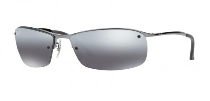 Ray-Ban 0RB3183 RB3183 004/82 Gunmetal - Polarized Grey Mirror Silver Gradient
