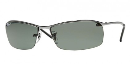 Ray-Ban 0RB3183 RB3183 004/9A Gunmetal - Polarized Green