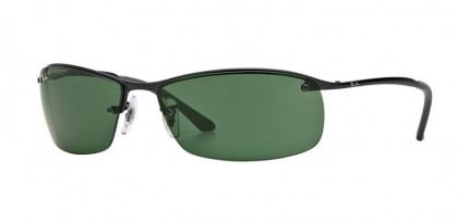 Ray-Ban 0RB3183 RB3183 006/71 Matte Black - Green