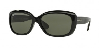Rayban Rayban HIGHSTREET 0RB4101 JACKIE OHH 601/58 Black - Crystal Green Polarized