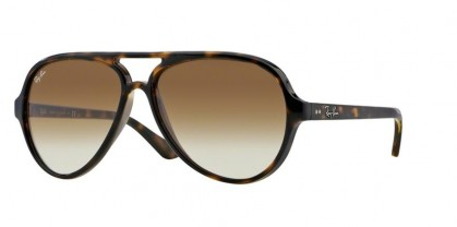 Rayban ICONS 0RB4125 CATS 5000 710/51 Light Havana - Crystal Brown Gradient