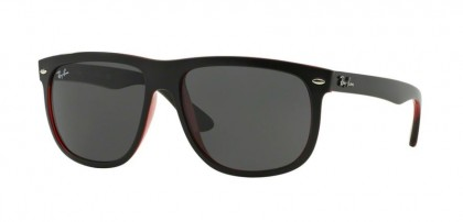 Rayban HIGHSTREET 0RB4147 RB4147 617187 Top Matte Black on Red Trasparent - Dark Grey