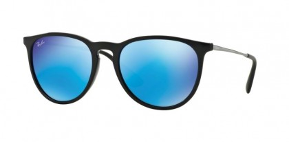 Ray-Ban 0RB4171 ERIKA 601/55 Black - Light Green Mirror Blue