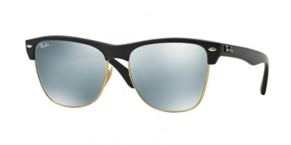 Rayban HIGHSTREET 0RB4175 CLUBMASTER OVERSIZED 877/30 Demi Shiny Black - Light Green Mirror Silver