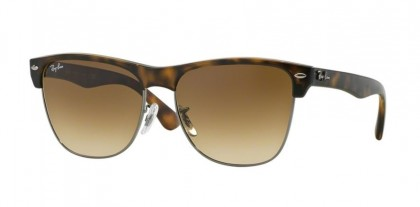 Rayban HIGHSTREET 0RB4175 CLUBMASTER OVERSIZED 878/51 Demy Shiny Havana Gunmetal - Crystal Brown Gradient
