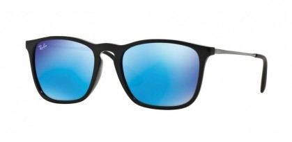Rayban YOUNGSTER 0RB4187 CHRIS 601/55 Black - Light Green Mirror Blue