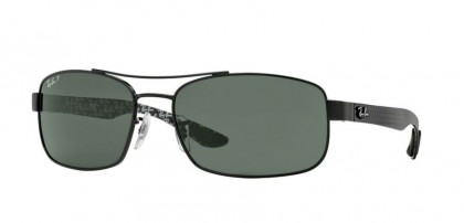 Rayban TECH CARBON FIBRE 0RB8316 002/N5 Black - Crystal Green Polarized