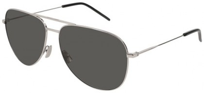 Saint Laurent CLASSIC 11-027 Silver Silver - Shiny Smoke
