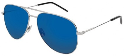 Saint Laurent CLASSIC 11-032 Silver Silver - Shiny Blue