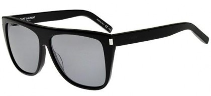 Saint Laurent SL 1-001 Black Black - Shiny Grey