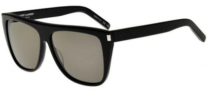 Saint Laurent SL 1-002 Black Black - Shiny Smoke