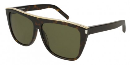 Saint Laurent SL 1 COMBI-004 Havana Havana - Dark Green
