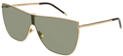 Saint Laurent SL 1 MASK-004 Gold Gold - Light Green